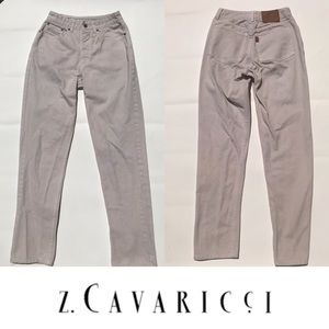 Z. Cavarrici Vintage High Rise Mom Jean Ivory